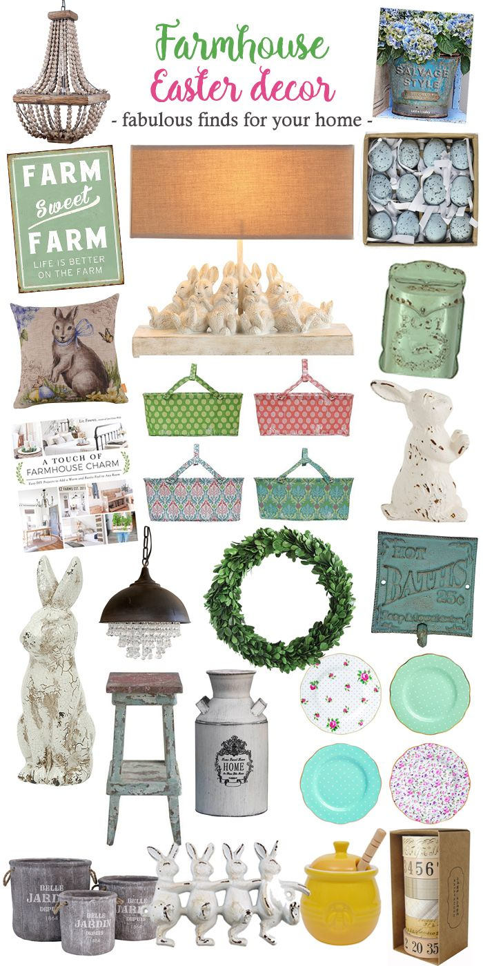 Favorite Finds to Add Farmhouse Easter Decor to your home via @jencarrollva