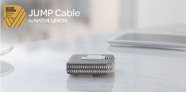 Native Union JUMP Cable - Charger and Lightning USB  -  Power and Battery Built-in rechargeable lithium-polymer battery Charging via USB port to computer system or USB power adapter Time to charge JUMP...