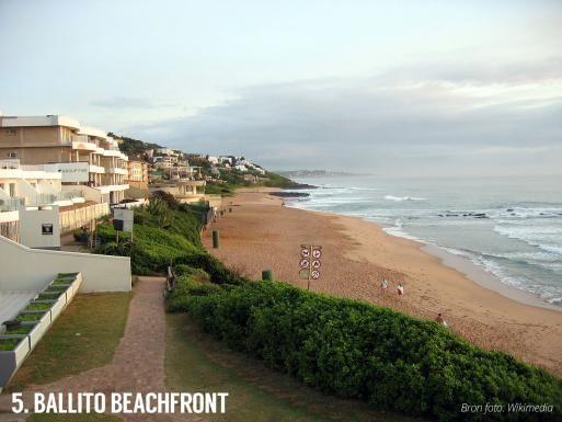 Ballito beachfront. Strand in Zuid-Afrika.