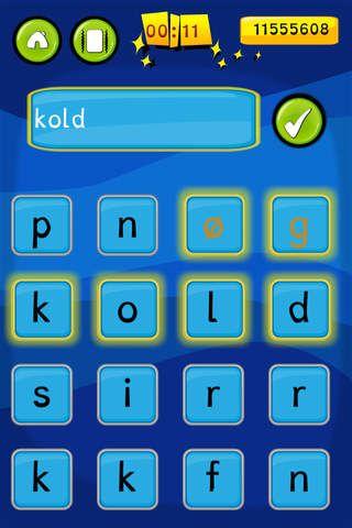 TRÆNING: I Ordjagt skal eleverne finde så mange ord som muligt i løbet af 90 sekunder. Appen koster 7 kr.