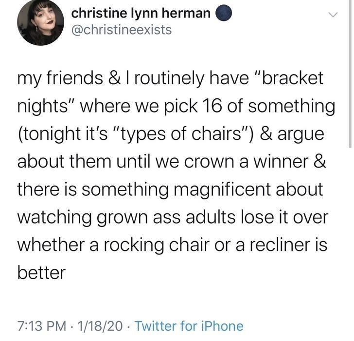Twitter Thread On Random Brackets Is A Really Good Idea Friendship Memes Humor People Twitter
