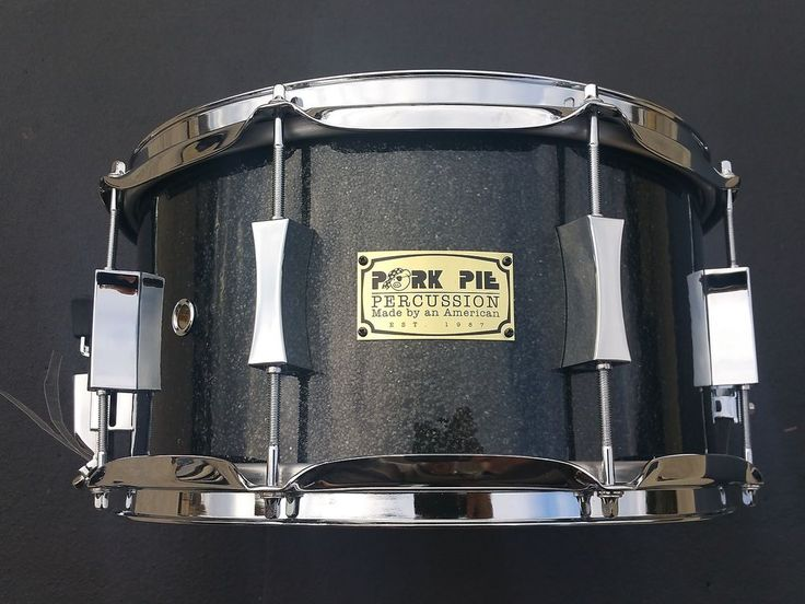 """Pork Pie 7"""" X 13"""" USA Maple Shell Snare! Black Sparkle in Musical Instruments & Gear, Percussion, Drums 