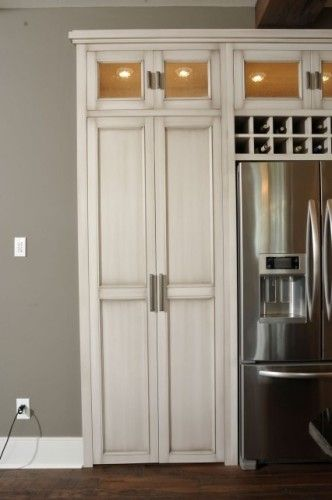 Hidden Pantry Double Doors And Pantry On Pinterest