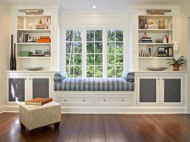 Window Seat And Bookshelves | American HWY | Window seat ...