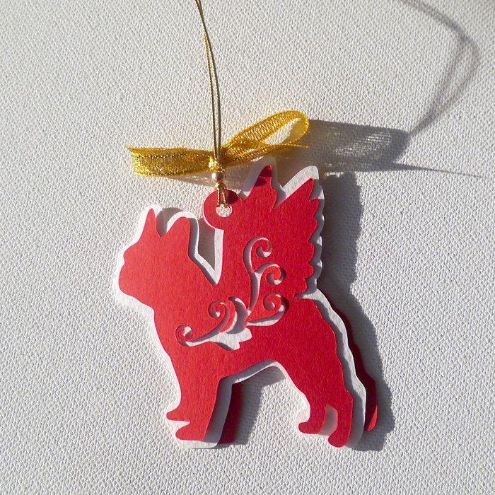 French Bulldog Christmas tree decoration Caspar by PSIAKREW on Etsy