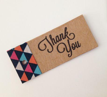 30 x Thank you Tags - Geometric Washi by Frankie's Girl