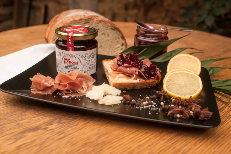 Red beetroot chutney with lemons and staranis