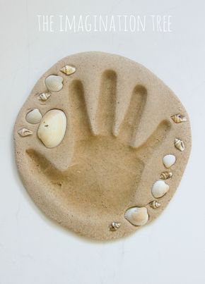 HOW TO MAKE OUR SAND CLAY RECIPE: 2 cups sand 1 1/2 cups plain flour 1 cup warm water 1 1/4 cups salt Mix together a large bowl and slowly add the warm water, with a large spoon. bake 175 for 3-4 hours