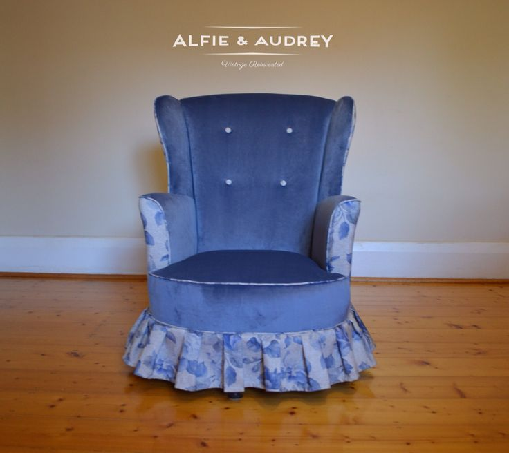 Something for Rita...a Comission wingback bedroom chair delivered to Yankalilla SA.  www.alfieandaudrey.com.au