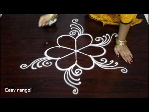 latest friday kolam designs with dots || simple muggulu designs || easy rangoli designs with dots - YouTube