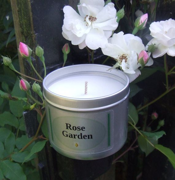Fresh Rose fragrant soy wax candle. Clean long burn relaxing