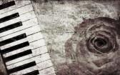 Аннотация гранж розы и пианино, старинные фоновой музыки
