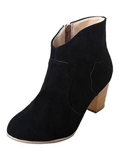 Oferta: 10.91€. Comprar Ofertas de Minetom Mujeres Otoño Invierno Botines Chelsea Tacón Alto Tobillo Botas Señoras Plataforma Zapatos Altos Talones Martin Botas barato. ¡Mira las ofertas!