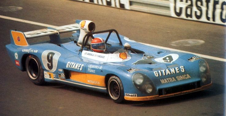 Jean-Pierre Jabouille / François Migault - Matra-Simca MS670C - Équipe Gitanes - XLII Grand Prix d'Endurance les 24 Heures du Mans - 1974 World Championship for Makes, round 5 - Challenge Mondial de Vitesse et d'Endurance, round 4