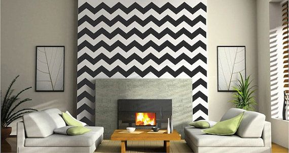 Chevron Wall Decals by TrendyWallDesigns on Etsy