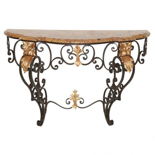 19c French Iron Console Table