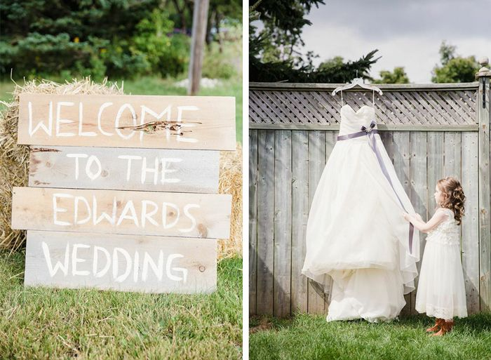 Rustic Decor & Wedding Dress