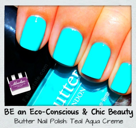 "Butter NAIL polish....""TEAL AQUA GREEN"""