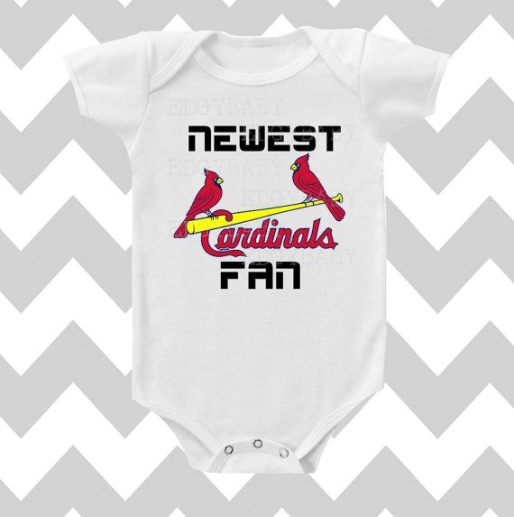 Newest St Louis Cardinals Fan Neutral Bodysuit by Simply Chic Baby on Etsy, $13.95