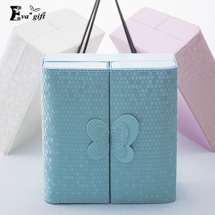 Creative bow Jewelry storage Box  Makeup Case Cosmetics Beauty Casket organizer Birthday Gift Ring Earrings Necklace Container