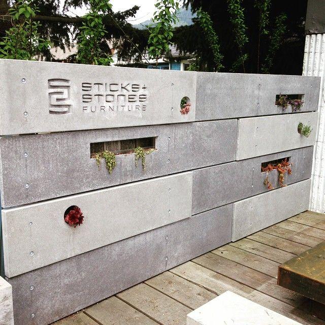 Our new concrete fence at the shop Yup concrete