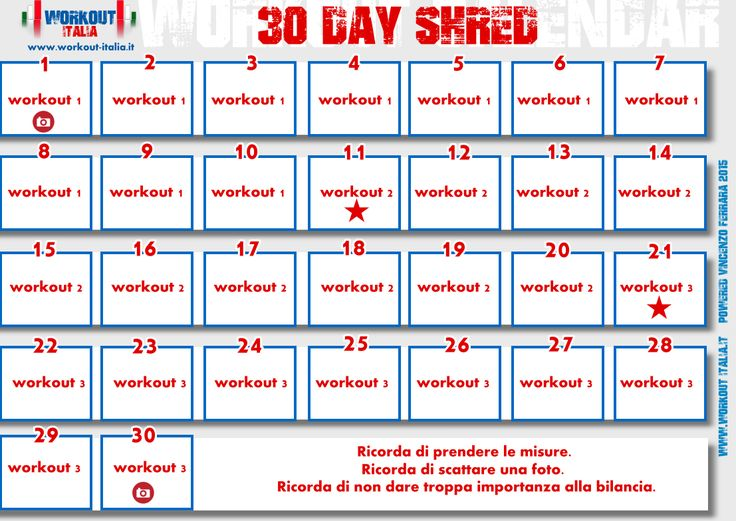 30 Day Shred - Workout - Workout-Italia
