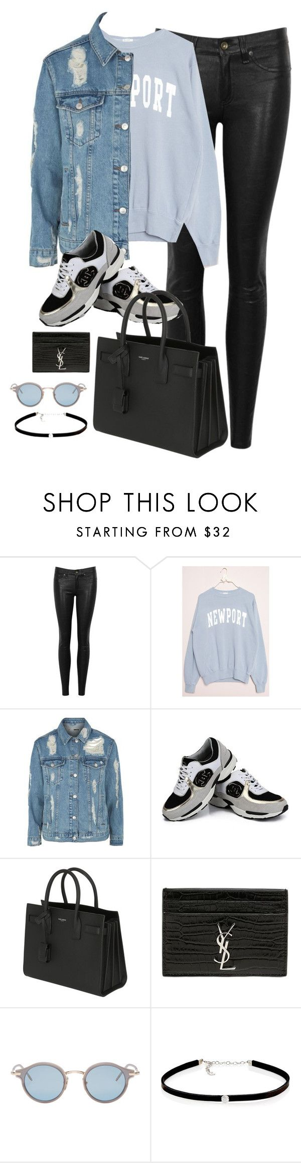 """Untitled #3065"" by theaverageauburn on Polyvore featuring rag & bone/JEAN, Topshop, Chanel, Yves Saint Laurent, Thom Browne and Carbon & Hyde"