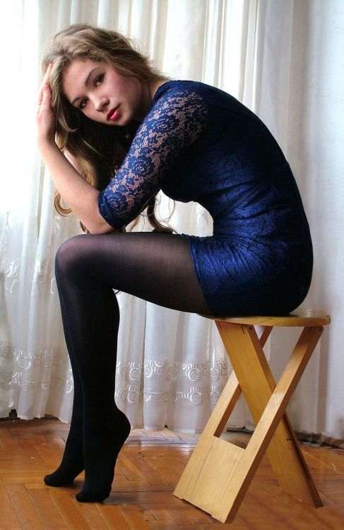 navy full support pantyhose