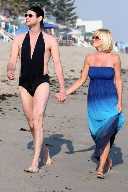 Jenny McCarthy + Jim Carrey #celebrities #celebritycandids #funny