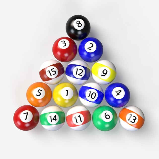 Bright Pool Billiard Balls Pyramid On A Transparent Background 3d Render 8 Billiards Pyramid Png Transparent Clipart Image And Psd File For Free Download