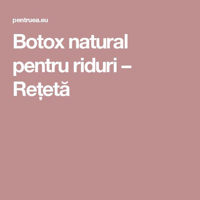 Botox natural pentru riduri – Rețetă
