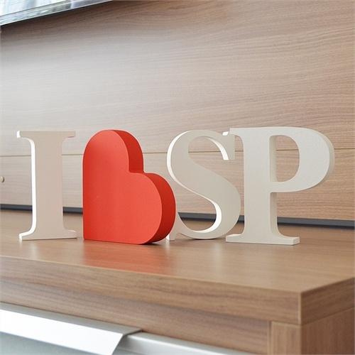 Letras Decorativas I LOVE SP