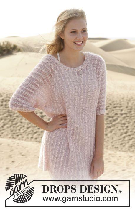 Свободный пуловер Sweet Rose от DROPS Design. Все размеры. Обсуждение на LiveInternet - Российский Сервис Онлайн-Дневников