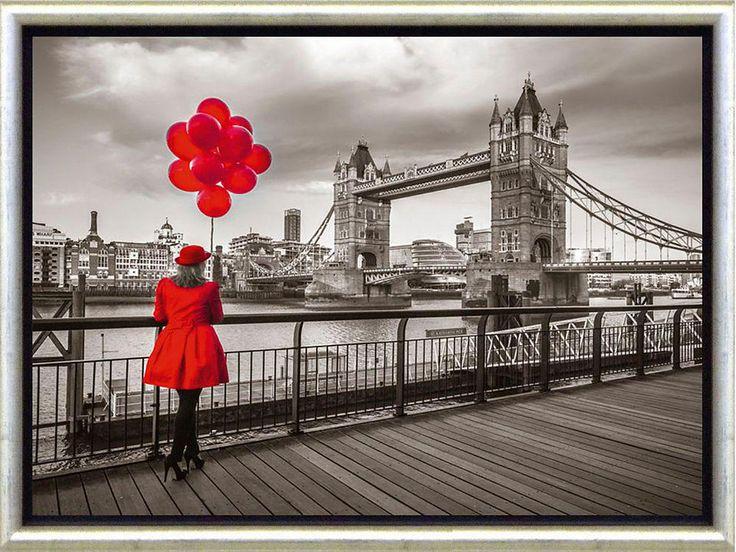 Premium Picture Schattenfugenbild »London/Lady in red«, 46/36 cm Jetzt bestellen unter: https://moebel.ladendirekt.de/dekoration/bilder-und-rahmen/bilder/?uid=b0b1185f-def2-53fe-9fbd-4f460b5b6f45&utm_source=pinterest&utm_medium=pin&utm_campaign=boards #zubehör #bilder #rahmen #dekoration