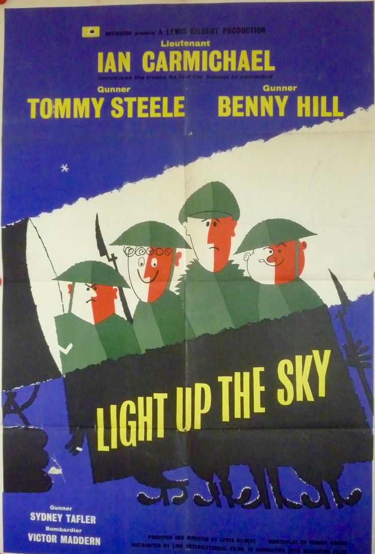 """Light Up The Sky"" (1960) original UK 1 sheet (British comedy film starring Ian Carmichael, Benny Hill & Tommy Steele)"