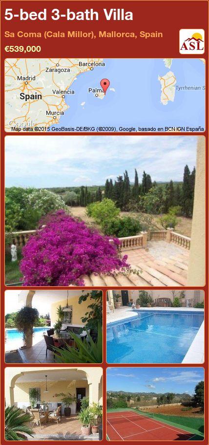 5-bed 3-bath Villa in Sa Coma (Cala Millor), Mallorca, Spain ►€539,000 #PropertyForSaleInSpain