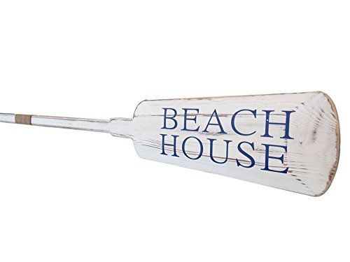 """Wooden Rustic Beach House Decorative Rowing Oar 62 - Wooden Rowing Paddle by Handcrafted Model Ships. Wooden Rustic Beach House Decorative Rowing Oar 62 - Wooden Rowing Paddle. 62"""" L x 1"""" W x 6"""" H."""
