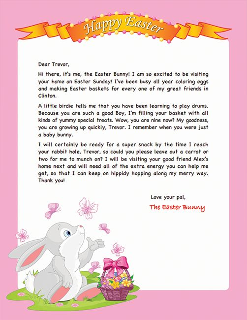 letter to easter bunny template - 10 best images about easter bunny letters on pinterest