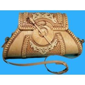 Russian Art Birch Bark Women Handbag