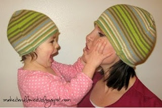 Re-use a sweater.. Make it into a hat..