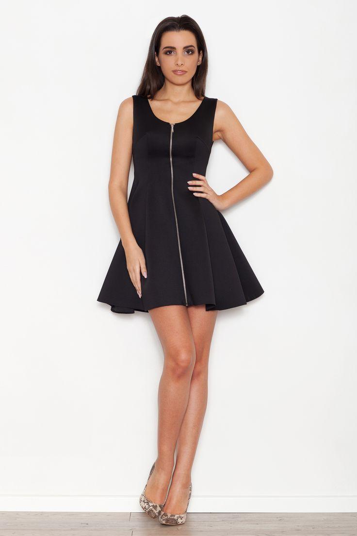 Katrus K255 Sukienka - czarny