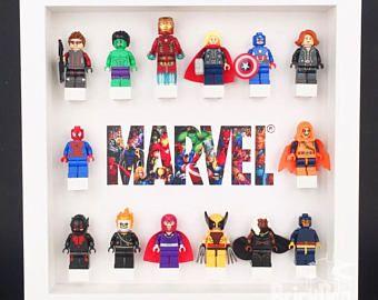 Superheroes Avengers Minifigure Marvel Display Lego Frame Gift White 2EeH9IWDY
