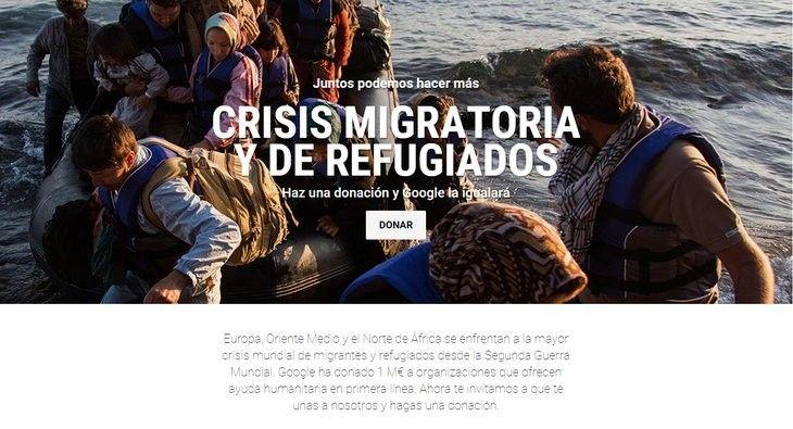 Sabías que Google presenta página para que ayudemos con donaciones en la crisis de refugiados