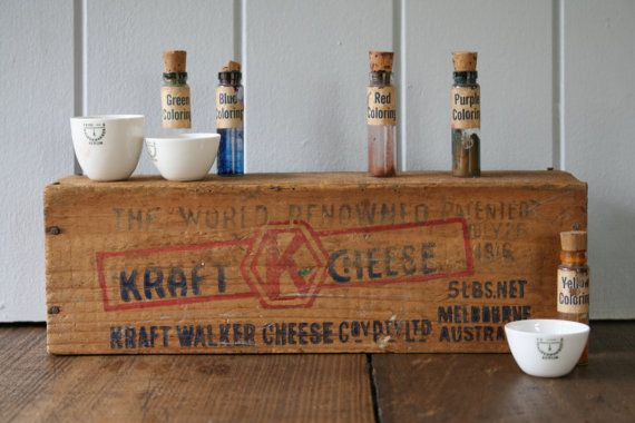 Kraft Cheese Box Wooden Crate for Display or Storage by FoundByHer
