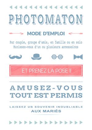 Affiche Photobooth - Organiser un mariage