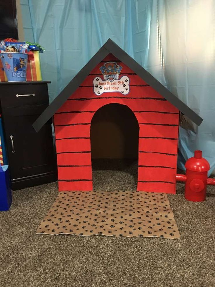 Paw Patrol Birthday Party Ideas Igloo Dog House Door Cover Best