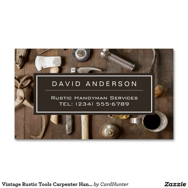 54 best zazzle collection business cards images on pinterest vintage rustic tools carpenter handyman woodworker business card magnet reheart Gallery