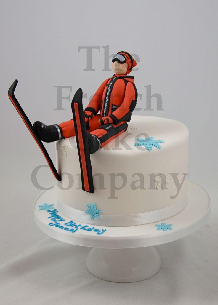 sporty cake skiing gateau d 39 anniversaire sport ski. Black Bedroom Furniture Sets. Home Design Ideas
