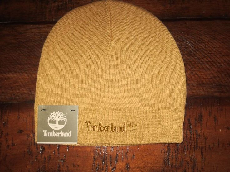 TIMBERLAND   MEN'S  KNITTED  BEANIE  HAT  SKULL CAP  WHEAT COLOR  NEW #Timberland #Beanie