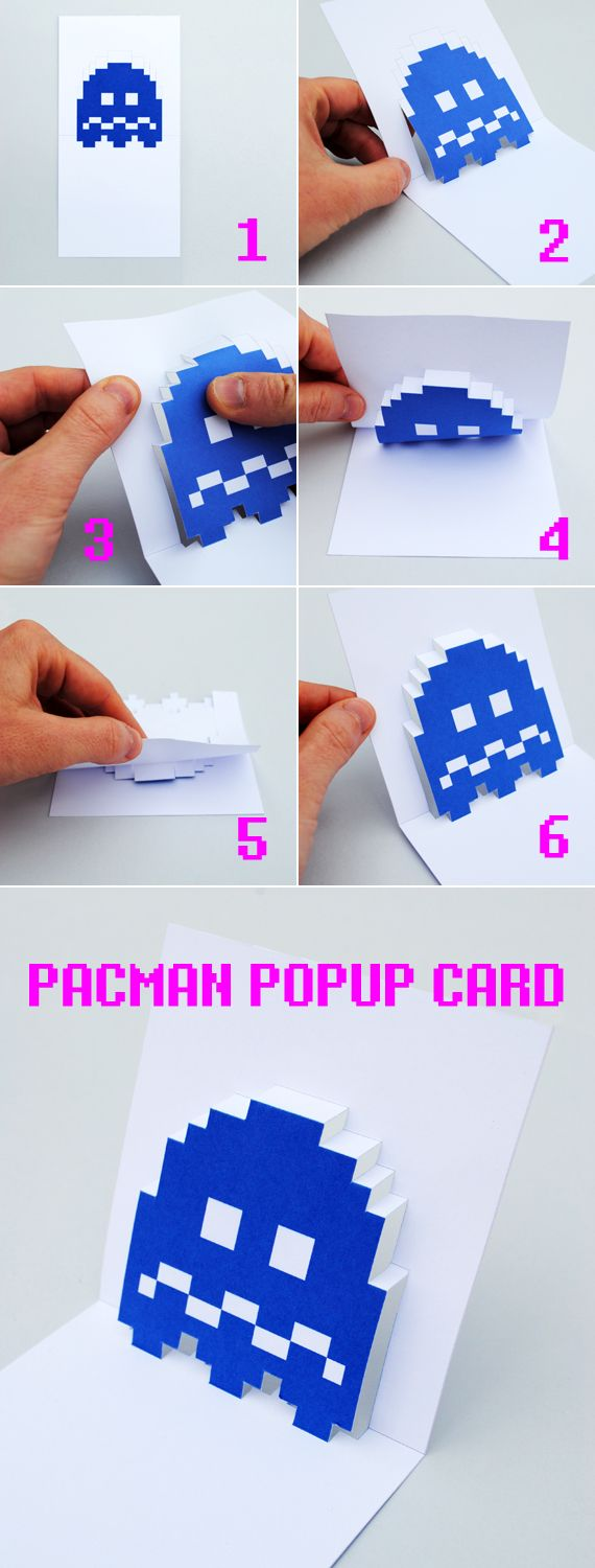 pacman ghost // popup card // free template